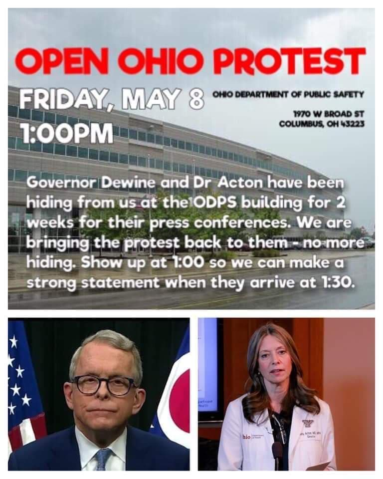 Open Protest Ohio May 8th 2020